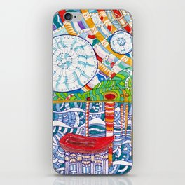 Abstract doodle Starry Night iPhone Skin