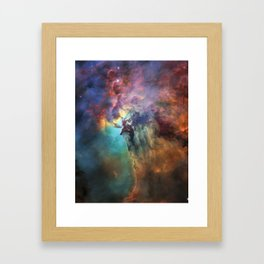 Close Up Lagoon Nebula, Messier 8, NGC 6523 Framed Art Print