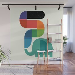 Rainbow Painter Wall Mural