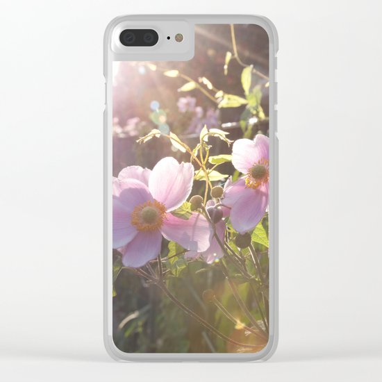 Light Pink Summer Flowers at backlight #1 #art #society6 Clear iPhone Case