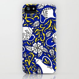 Tea Time Blue and Yellow iPhone Case