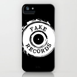 Fake Records iPhone Case