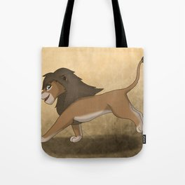 Running lions Tote Bag