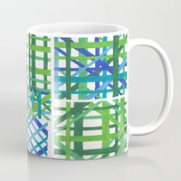 plaid Mugs featuring Plaid by Smiley's Dreamboat