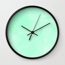 Mint Meringue Watercolor Wall Clock