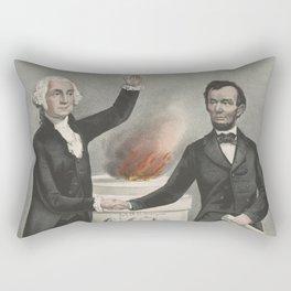 Vintage American Founding Fathers Illustration (1865) Rectangular Pillow