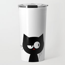 Q the Cat Travel Mug