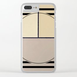 Toned Down - line graphic Clear iPhone Case