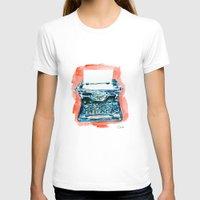 typewriter T-shirts featuring Typewriter by Elena Sandovici