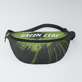 The Green Leaf abstract hemp flower Fanny Pack