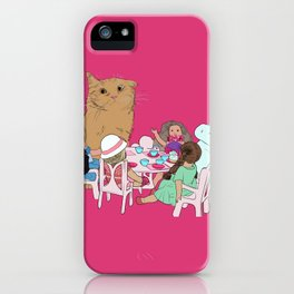 Teatime//because every cat deserves to be spoiled iPhone Case
