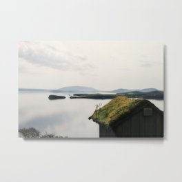 Fairy Dust - Moss Covered Tiny House Iceland Metal Print