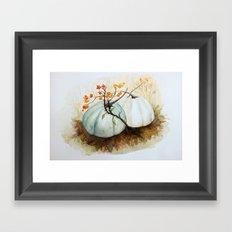 Pumpkin Patch - Watercolor Framed Art Print