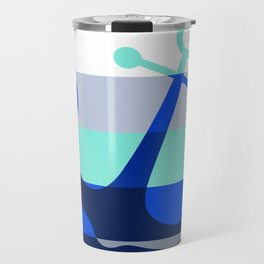 Navy Anchors: Beneath the Sea Travel Mug
