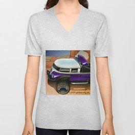 Hot Wheels Purple T1 Rockster Dragster Poster Trade Print Unisex V-Neck