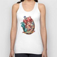 line Tank Tops featuring SIREN by Tim Shumate