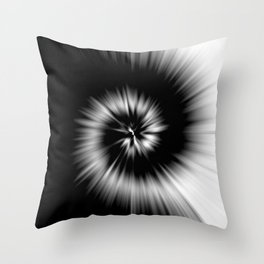 TIE DYE #1 (Black & White) Throw Pillow