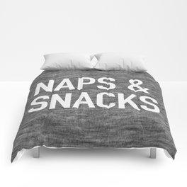 Naps and Snacks - dark version Comforters