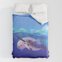 Beluga and Narwhal Comforters