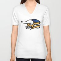 vikings V-neck T-shirts featuring Norwegian Vikings Logo by Griffey Challenge