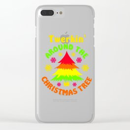 Twerkin' Around The Christmas Tree Colorful Clear iPhone Case
