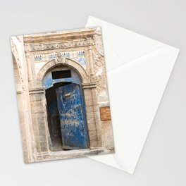 Ancient Blue Tiled Moroccan Door Stationery Cards