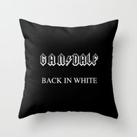 acdc Throw Pillows featuring Back in White by LilloKaRillo