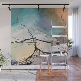 Heaven and Hell Abstract Painting by Jodi Tomer Cloudy Painting Sticks Wall Mural