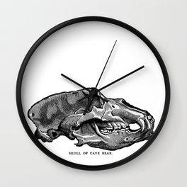 Cave Bear Skull Wall Clock