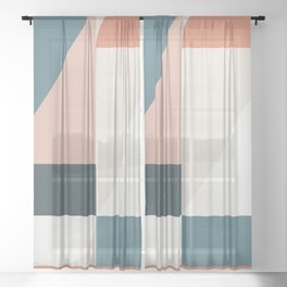 Cirque 01 Abstract Geometric Sheer Curtain