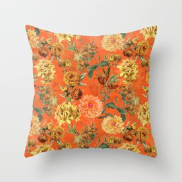 Vintage & Shabby Chic - Warm Sunny Yellow Flower Garden Throw Pillow