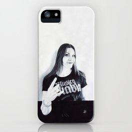 Floor Jansen Portrait. iPhone Case