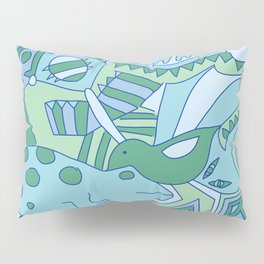 Abstract Animals - Blue and Green  Pillow Sham