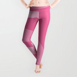 Pink Rainbow Pattern Leggings
