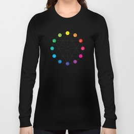Simple Color Wheel Long Sleeve T-shirt