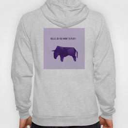 Do You Want to Play? - Origami Purple Bull Hoody