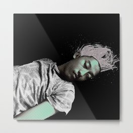 I SLEEP OVER Metal Print