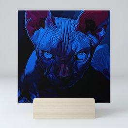 sphynx cat from hell vanfd Mini Art Print
