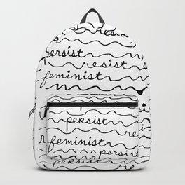 Resist Persist Feminist Backpack