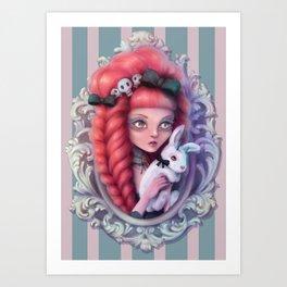 Demon bunny Art Print