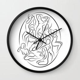 Ladies in Lines 2 Wall Clock
