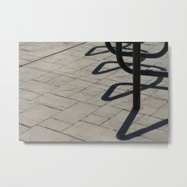 Lines of Concrete and Shadow Metal Print
