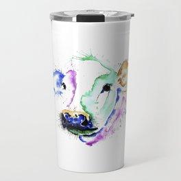 Colourful Cow Travel Mug
