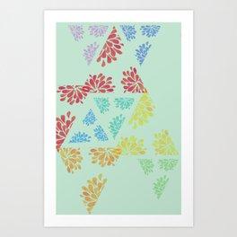 geo mintpop Art Print