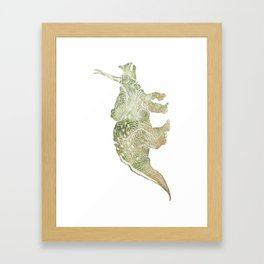 Torosaurus dinosaur Framed Art Print