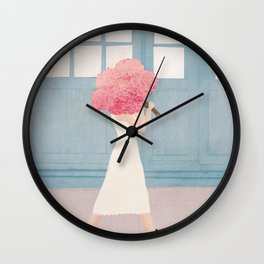 Flowers for You Wall Clock