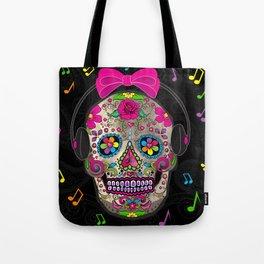 Sugar Skull Music Tote Bag