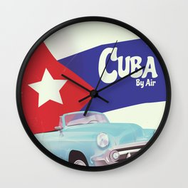 Cuba by Air Wall Clock