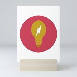 Lightning Bulb Mini Art Print