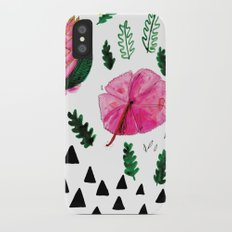 Tropical flowers iPhone X Slim Case